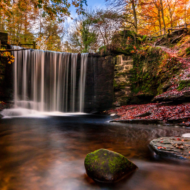"""Nant Mill falls"" stock image"