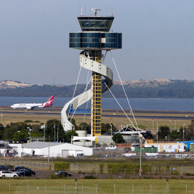 """Sydney Control Tower"" stock image"