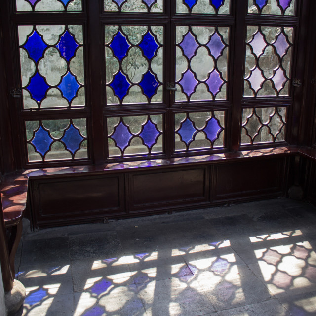 """Blue window panes"" stock image"