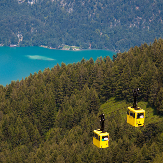 """""""Zwoelfhorn cablecar"""" stock image"""