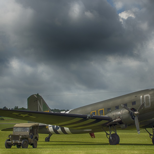 """C-47 Dakota aircraft"" stock image"
