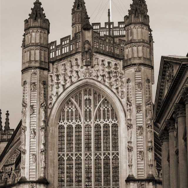 """Bath Abbey and Spa"" stock image"