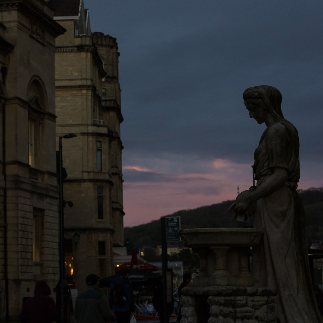 """Bath at Dusk"" stock image"