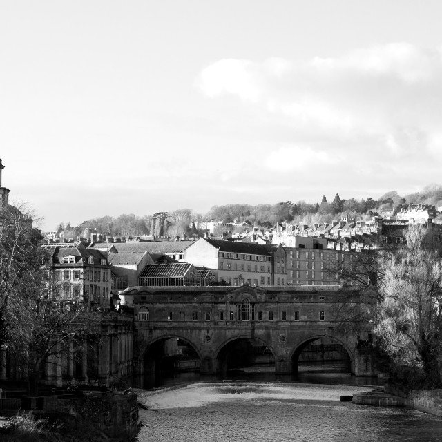 """Pulteney Bridge, Bath"" stock image"