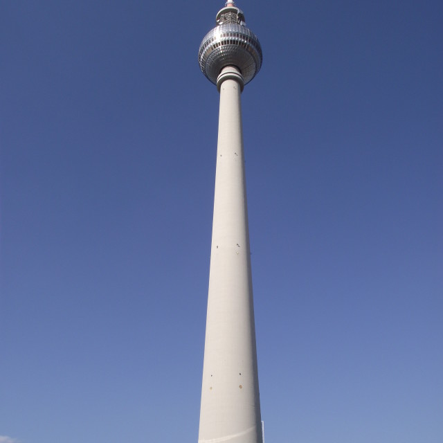 """the television tower berlin"" stock image"