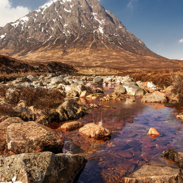 """Buachaille Etive Mor, Scotland"" stock image"