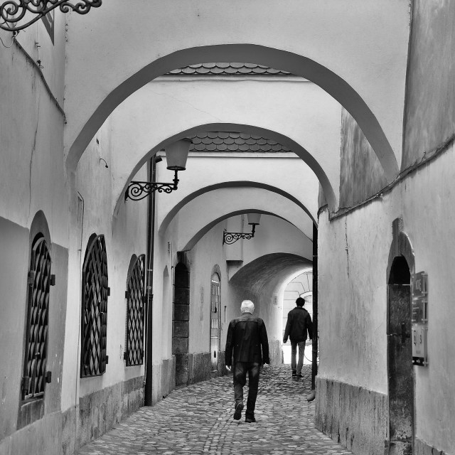 """Cobbled Alley"" stock image"
