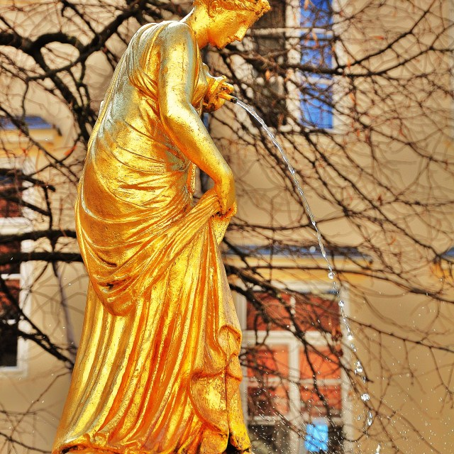 """Golden Lady Fountain"" stock image"