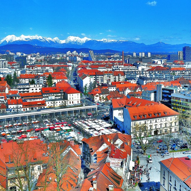 """""""Ljubljana from the Castle"""" stock image"""