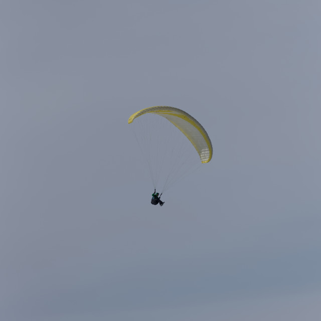 """""""Yellow paraglider"""" stock image"""
