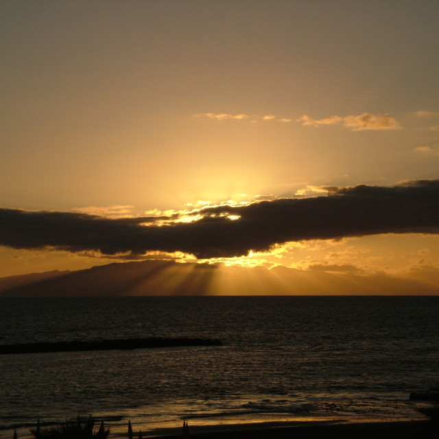 """Tenerife Sunset"" stock image"