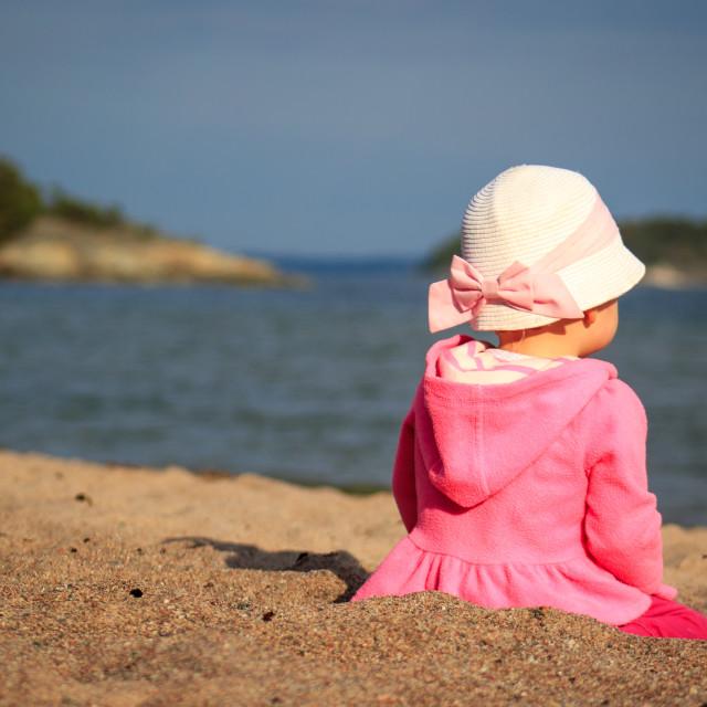 """Beach Baby"" stock image"