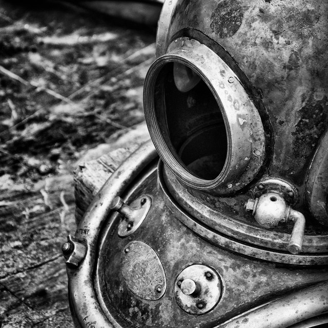 """Deep Sea Diving Helmet"" stock image"
