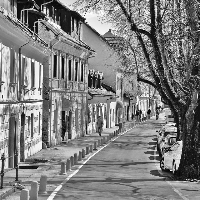 """""""Old Town Ljubljana"""" stock image"""