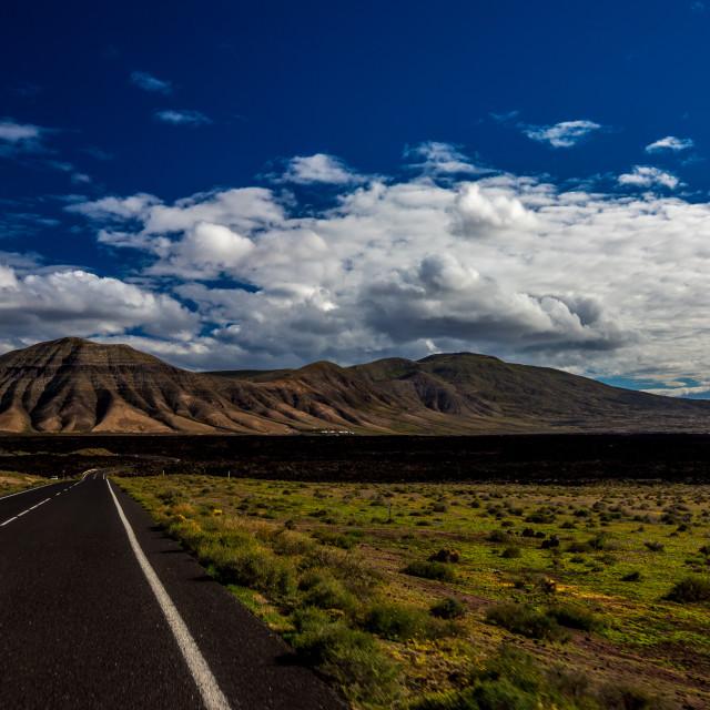 """Volcanic Road"" stock image"