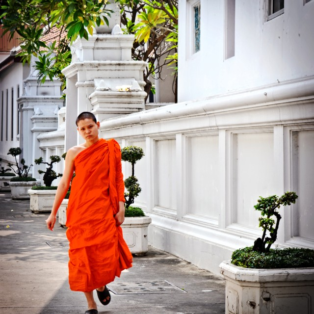 """Monk in Bangkok"" stock image"