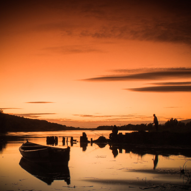 """""""River Suir Sunset"""" stock image"""