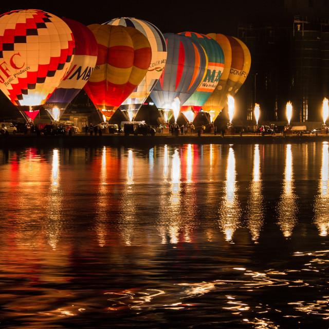 """Nightglow Hotair Balloons"" stock image"
