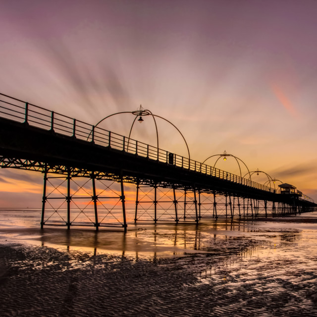 """Southport Sunset"" stock image"