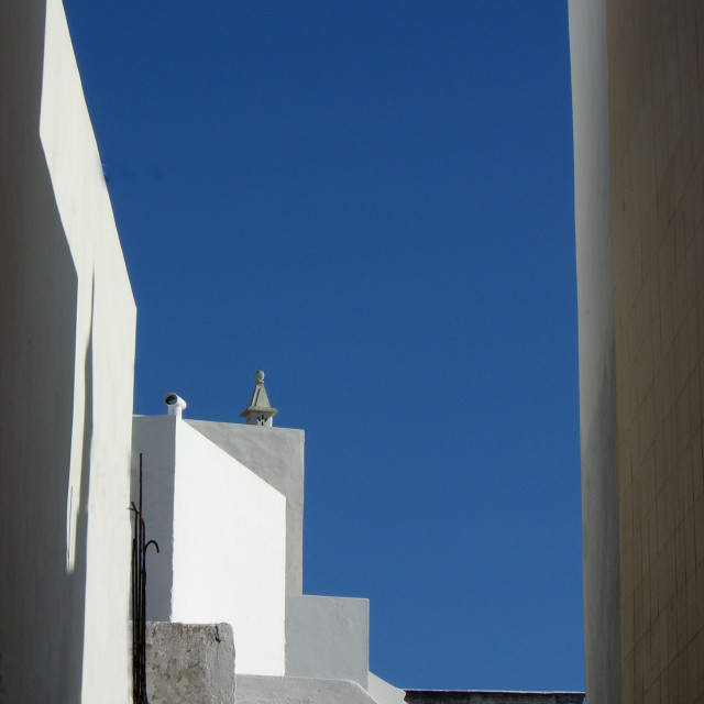 """""""Algarve Portugese architecture from Olhaõ"""" stock image"""