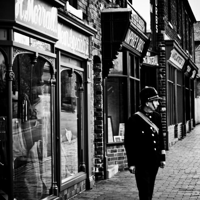 """Old time policeman"" stock image"