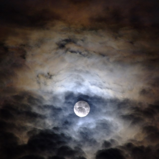 """Cloudy night"" stock image"