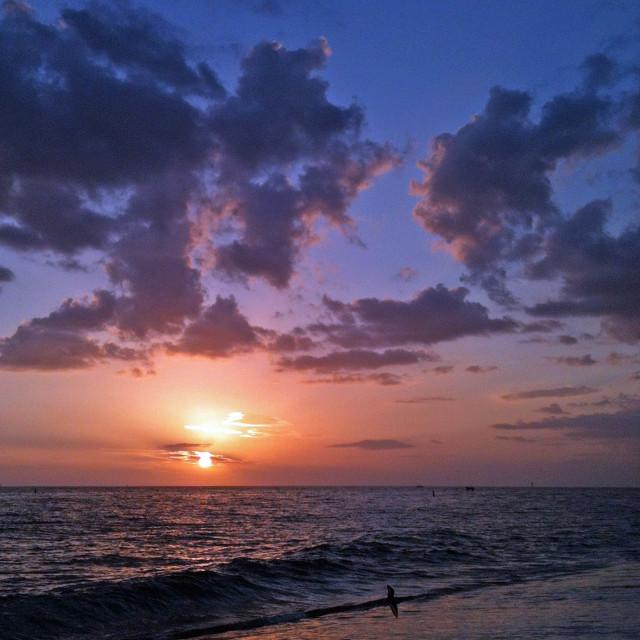 """Treasure Island Sunset"" stock image"
