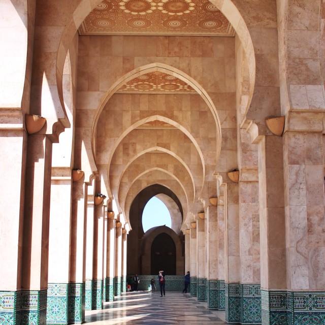 """""""Hassan II mosque"""" stock image"""