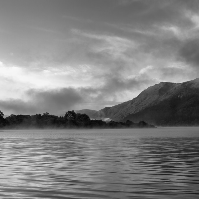 """Bassenthwaite Lake at Dawn"" stock image"