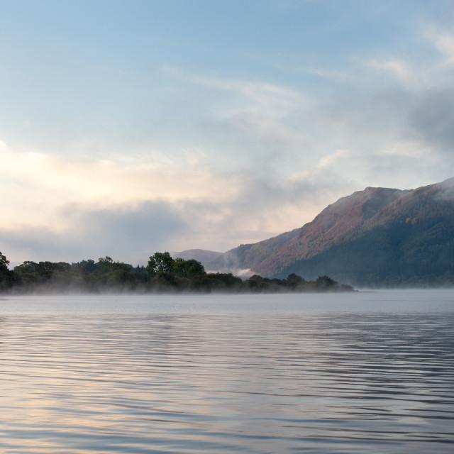 """Bassenthwaite Lake at Dawn"" stock image"