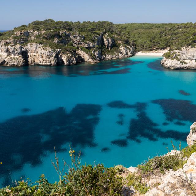 """Macarelleta Cove - Menorca"" stock image"
