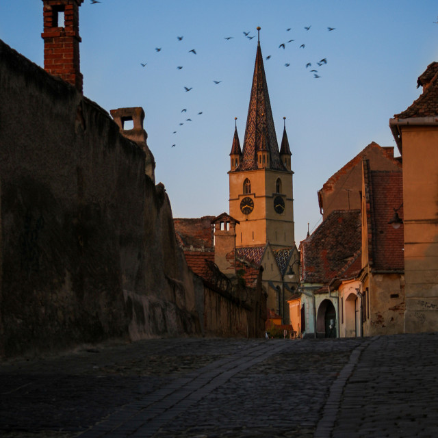 """Medieval street"" stock image"