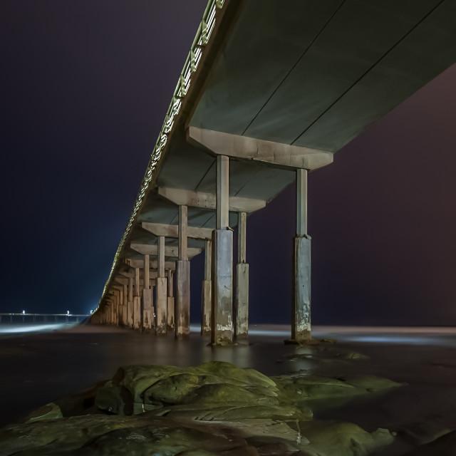 """""""O.B. Pier Blue Hour"""" stock image"""