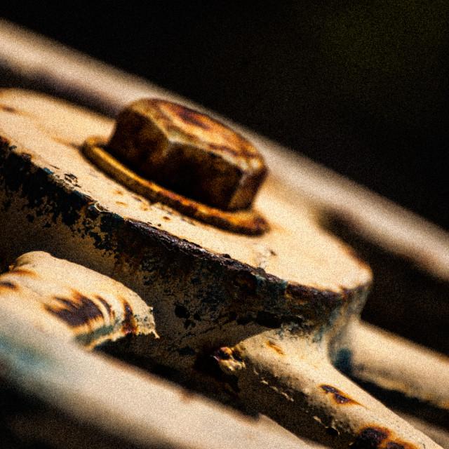 """""""Rusty Wheel"""" stock image"""
