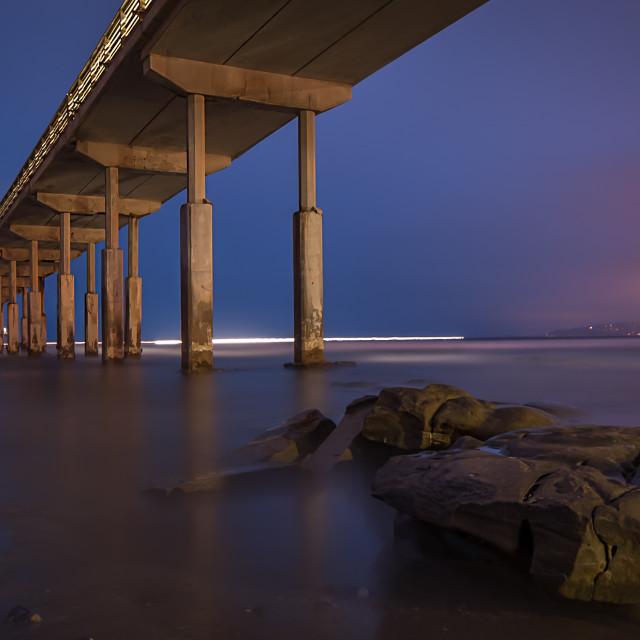 """O.B. Pier Sunrise"" stock image"