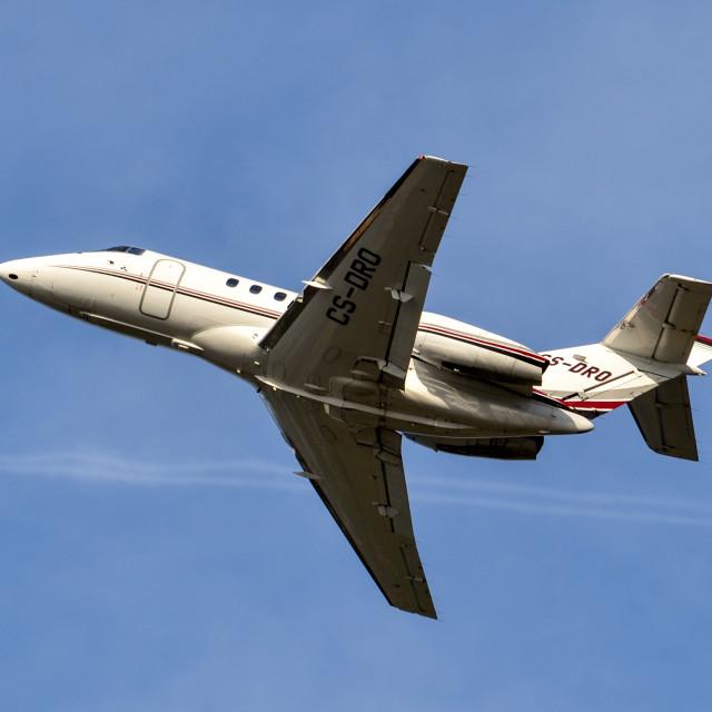 """""""NetJets Hawker 800XP BizJet"""" stock image"""
