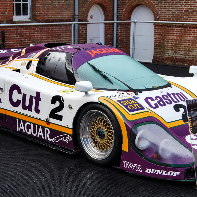 """Jaguar XJR9 - Silk Cut"" stock image"