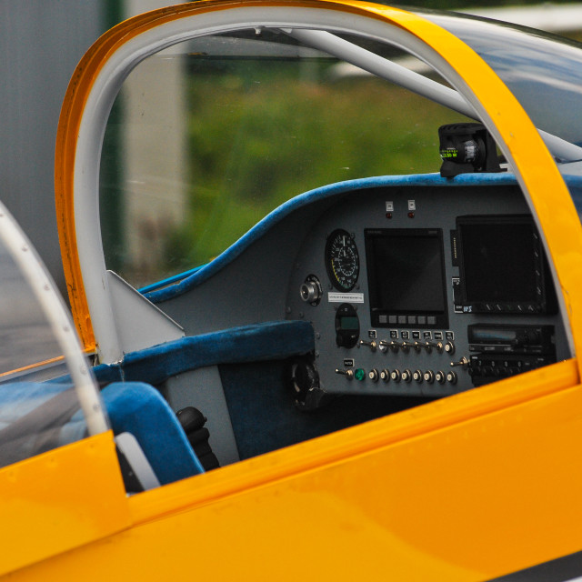 """Plane Cockpit"" stock image"