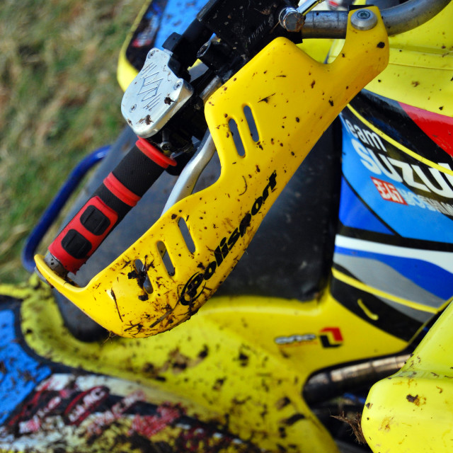 """Muddy Quad Bike"" stock image"