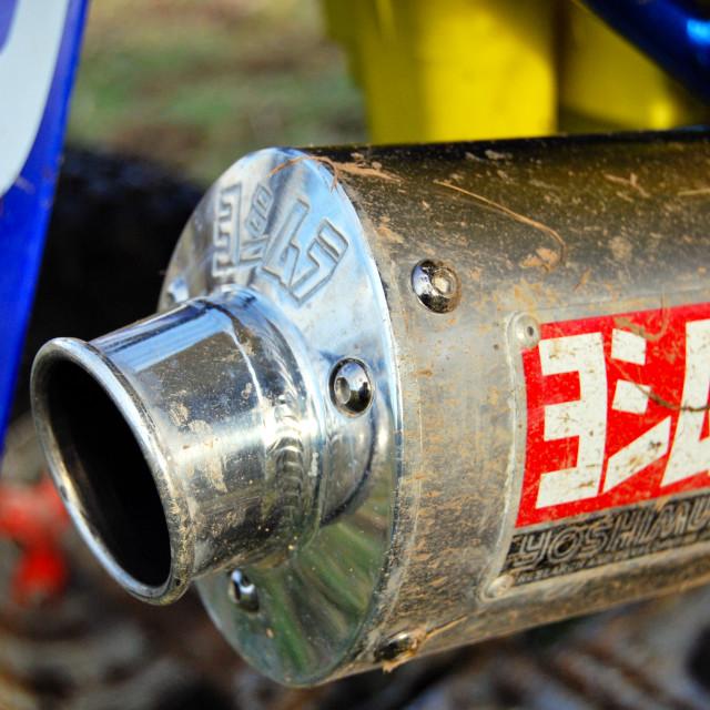 """""""Racing Exhaust"""" stock image"""