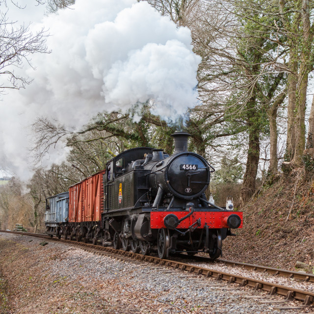 """GWR No.4566"" stock image"