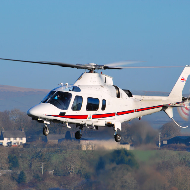"""Agusta 109 Royal Squadron Helicopter"" stock image"