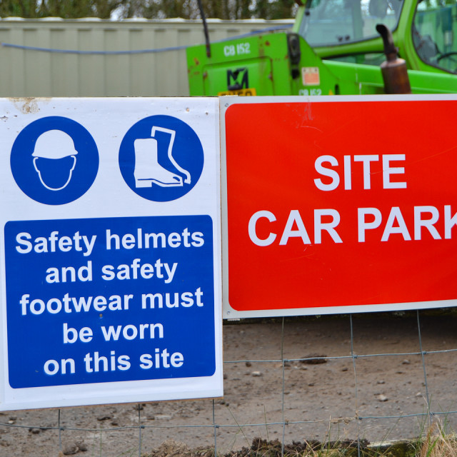 """Site Safety Signs"" stock image"