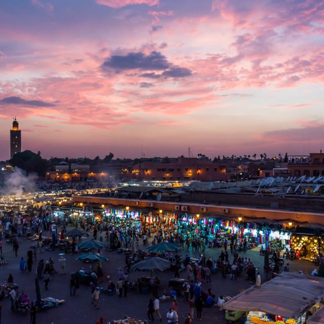 """""""Jemaa el-Fna, Marrakech"""" stock image"""