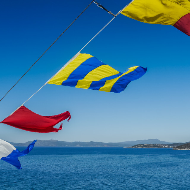 """Signal Flags"" stock image"