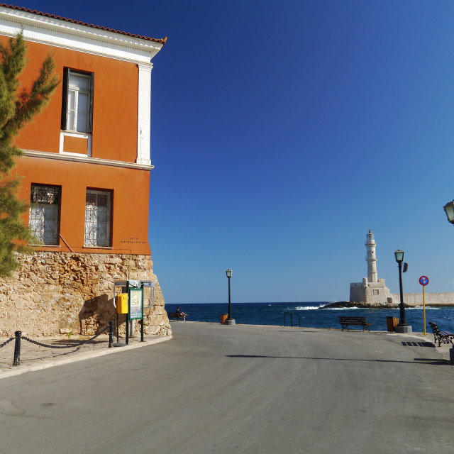 """Seafront, Chania"" stock image"