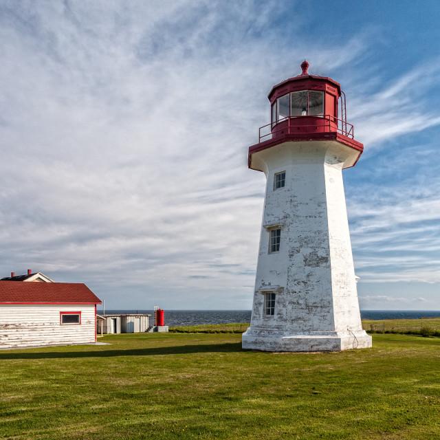 """Cap d'Espoir lighthouse"" stock image"