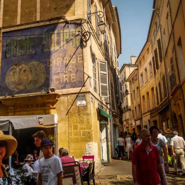 """Street in Aix"" stock image"