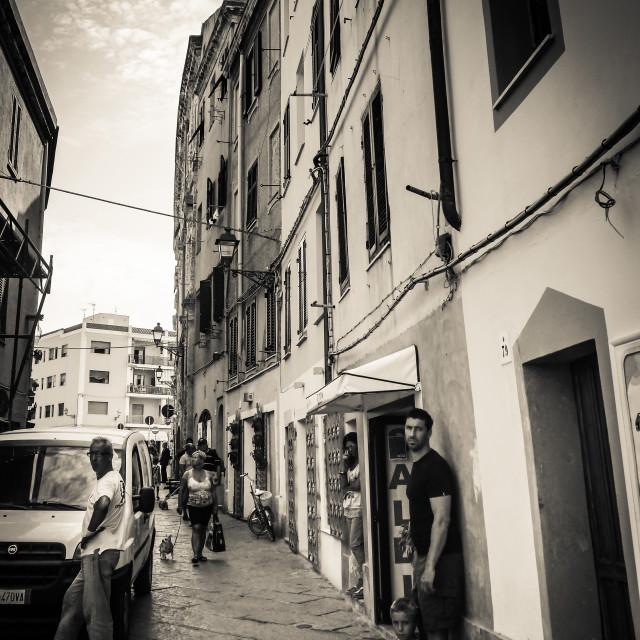 """""""Alghero, Sardinia"""" stock image"""