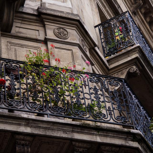 """""""Parisian Balcony"""" stock image"""